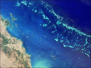 (Image of Great Barrier Reef Courtesy of NASA)