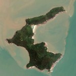(Image of Danmenshan Island from Google Earth)