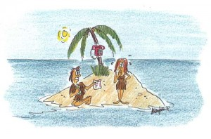 Private Island Life - Illustrated by Allan Jardine