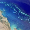 (Satellite Image of the Great Barrier Reef by NASA)