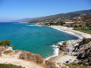 (One of Ikaria&#039;s beautiful beaches)