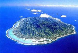 (Rarotonga image from cookislands.org.uk)
