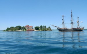 (HMS Bounty at Singer Castle, NY/VPI Image)