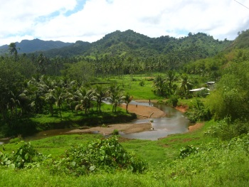 (The fertile highlands of Vanua Levu)