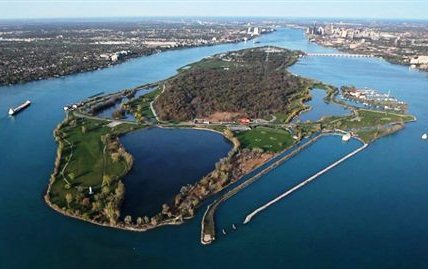 (Creative Commons aerial of Belle Isle)