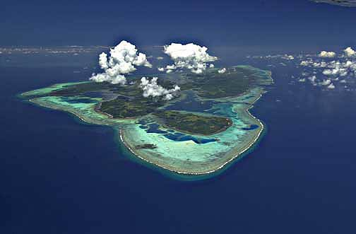 (The remote and beautiful island of Yap)