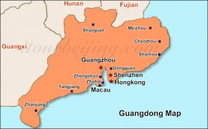 Map of Guangdong - Courtesy of www.itourbeijing.com