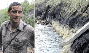 Bear Grylls and his Private Island Slide - Photo Courtesy of DailyMail.co.uk