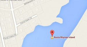 Busta Rhymes Island - Courtesy of Google / 99percentinvisible.org