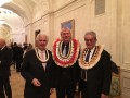 Marshall Islands' Minister Tony de Brum with RLA founder Jakob von Uexküll and Farhad Vladi of Vladi Private Islands