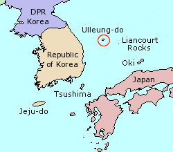 Dokdo Islands also known as Liancourt Rocks