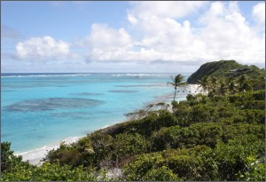 Turquoise waters of PSV