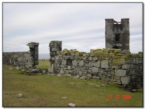 Castle ruins on Mutton Island